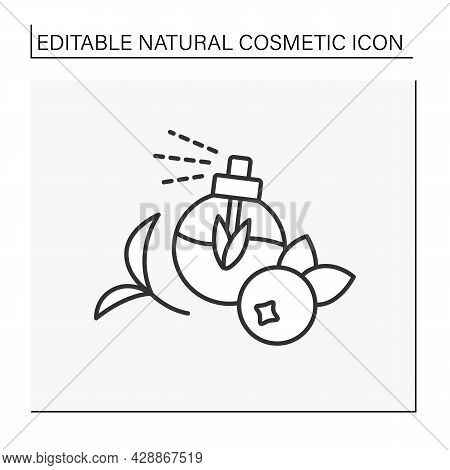 Perfume Line Icon. Fruit-flavored Perfume. Organic Ingredients For Beauty Procedures. Cosmetology. N
