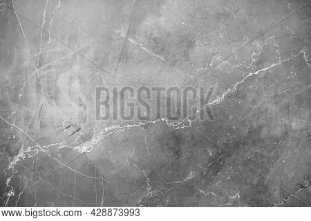 Image Of Black And White Marble Texture Or Abstract Background. Grey Marble Texture. The Raw Mineral