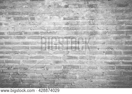 Light Shines On Modern Black Brick Wall Texture For Black Retro Background, Old Brick Wall Texture S