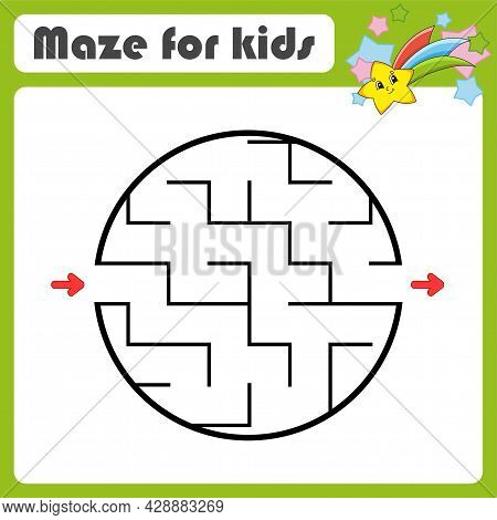Abstract Maze. Game For Kids. Puzzle For Children. Cartoon Style. Labyrinth Conundrum. Color Vector