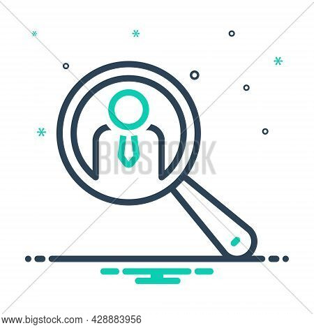 Mix Icon For Search-people-symbol Magnify Interview Recruitment Profile Enrollment Candidate Find Pe