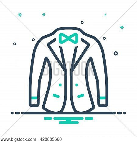 Mix Icon For Suit Unifrom Costume Accessory Pattern Jacket Gentleman Trendy Cloth