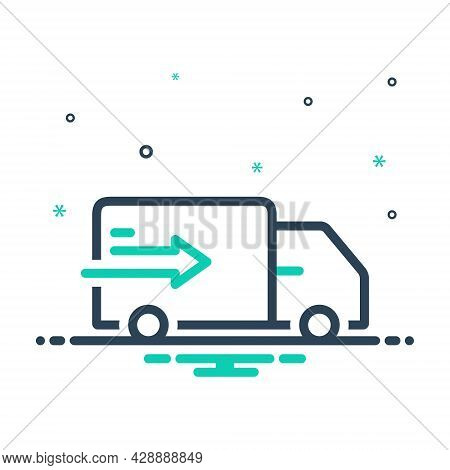 Mix Icon For Delivery-truck Delivery Truck Conveyance Dispensation Distribution Shipment Dispatch Pa
