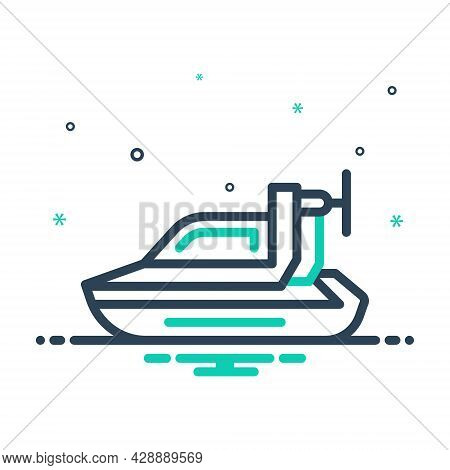 Mix Icon For Personal-hovercraft Hover Bike Motorbike Motorboat Travel Racer Ride Rider Speed Sport