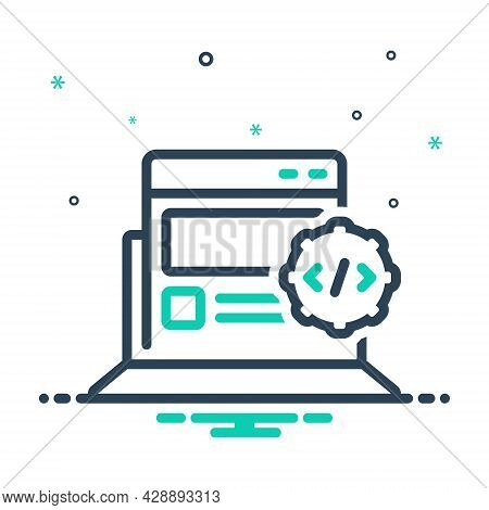 Mix Icon For Web-develop Optimization Html Software Coding Development Gadget Electronic Programming
