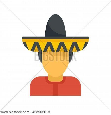 Mexican Man Avatar Icon. Flat Illustration Of Mexican Man Avatar Vector Icon Isolated On White Backg