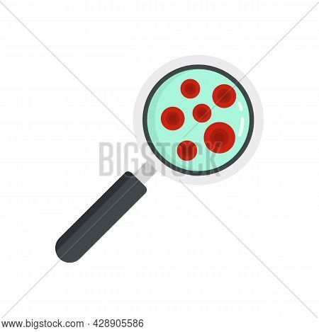 Research Blood Cells Icon. Flat Illustration Of Research Blood Cells Vector Icon Isolated On White B