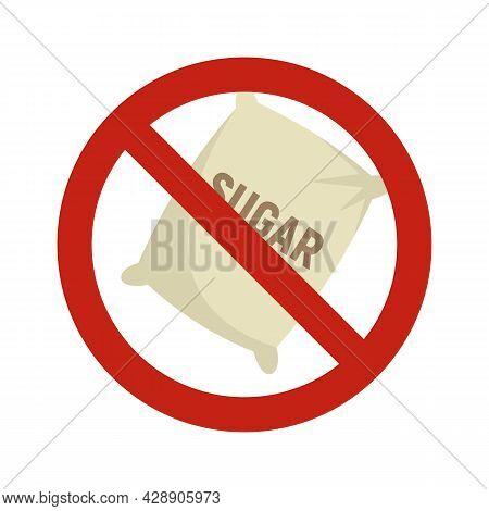 No Sugar Sack Icon. Flat Illustration Of No Sugar Sack Vector Icon Isolated On White Background