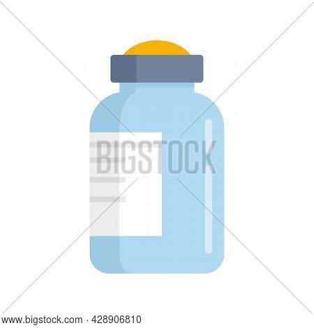 Insulin Bottle Icon. Flat Illustration Of Insulin Bottle Vector Icon Isolated On White Background