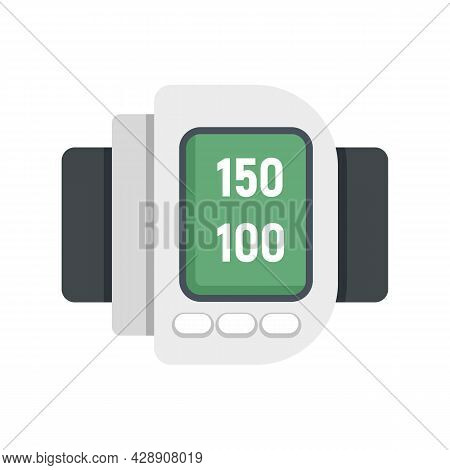 Human Digital Arterial Pressure Icon. Flat Illustration Of Human Digital Arterial Pressure Vector Ic