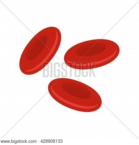 Red Blood Cells Icon. Flat Illustration Of Red Blood Cells Vector Icon Isolated On White Background