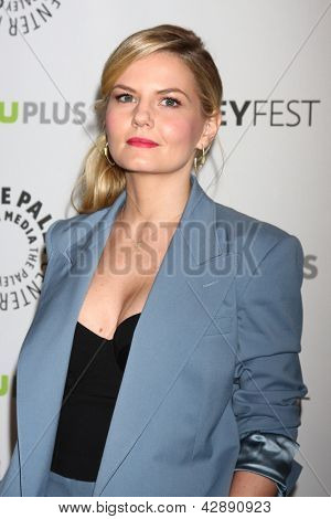 """LOS ANGELES - MAR 3:  Jennifer Morrison arrives at the  """"Once Upon A Time"""" PaleyFEST Event at the Saban Theater on March 3, 2013 in Los Angeles, CA"""
