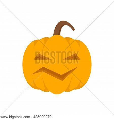 Carving Pumpkin Icon. Flat Illustration Of Carving Pumpkin Vector Icon Isolated On White Background
