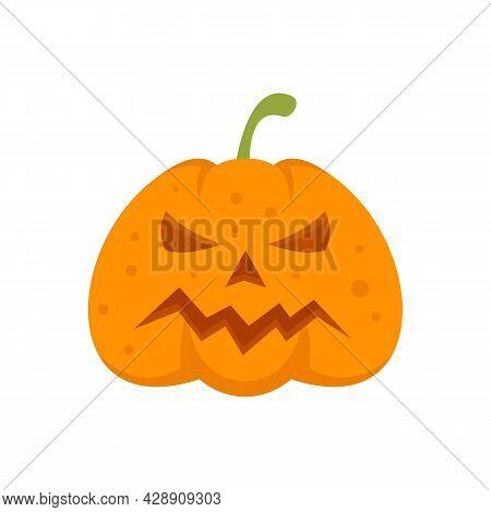 Squash Pumpkin Icon. Flat Illustration Of Squash Pumpkin Vector Icon Isolated On White Background