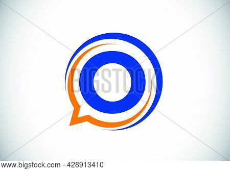 Initial O Monogram Letter Alphabet With A Bubble Chat Icon. Talking, Chatting Logo Concept. Modern L
