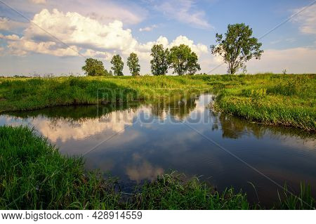 Beautiful Summer Day And Great Weather. Summer Landscape
