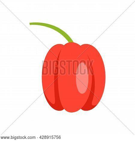 Fresh Paprika Icon. Flat Illustration Of Fresh Paprika Vector Icon Isolated On White Background