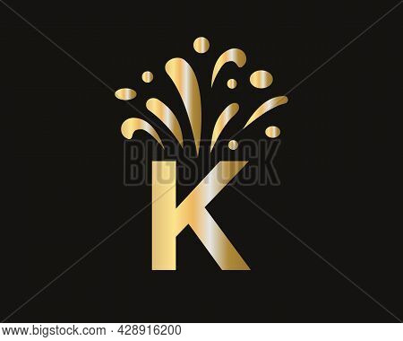 Initial K Letter Logo With Luxury Concept. Elegant K Logo Luxury And Celebration Concept.