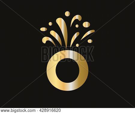 Modern O Letter Logo With Luxury Concept. Elegant O Logo Luxury And Celebration Concept.