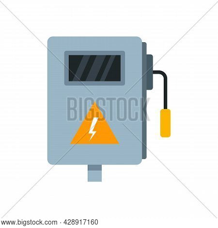Electric Box Icon. Flat Illustration Of Electric Box Vector Icon Isolated On White Background
