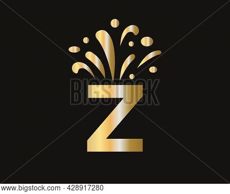 Z Letter Logo With Luxury Concept. Elegant Z Logo Luxury And Celebration Concept.