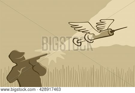 Vaccine Hunting - Comunity With Goals To Find Remains Of Unused Covid-19 Vaccine Doses. Vector Illus