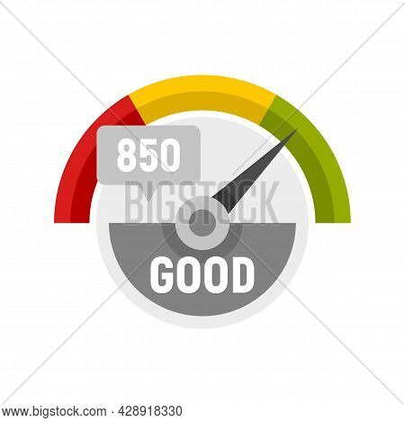 Good Credit Score Icon. Flat Illustration Of Good Credit Score Vector Icon Isolated On White Backgro