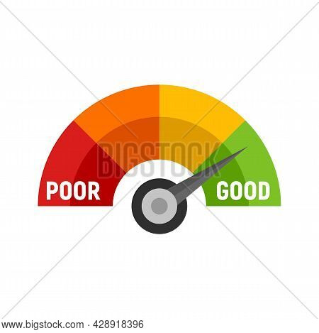 Good Scale Score Icon. Flat Illustration Of Good Scale Score Vector Icon Isolated On White Backgroun