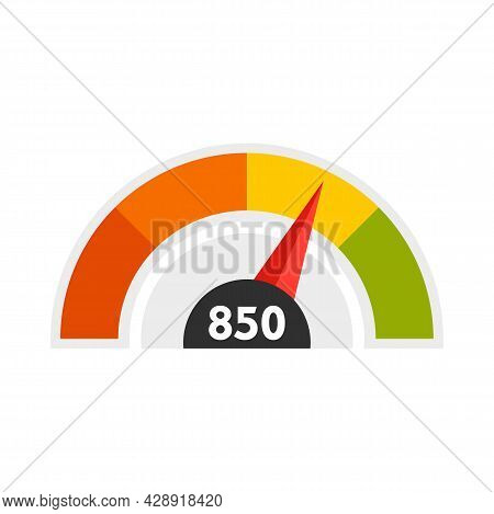 Good Meter Scale Icon. Flat Illustration Of Good Meter Scale Vector Icon Isolated On White Backgroun