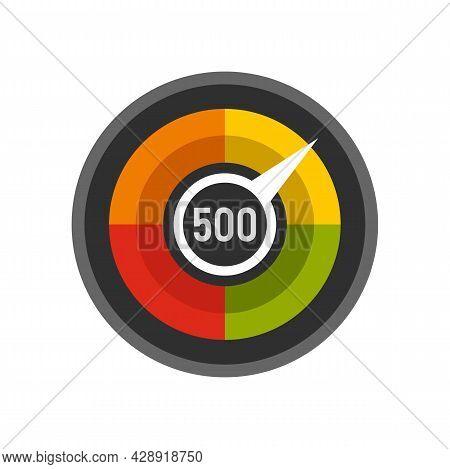 Customer Credit Score Icon. Flat Illustration Of Customer Credit Score Vector Icon Isolated On White