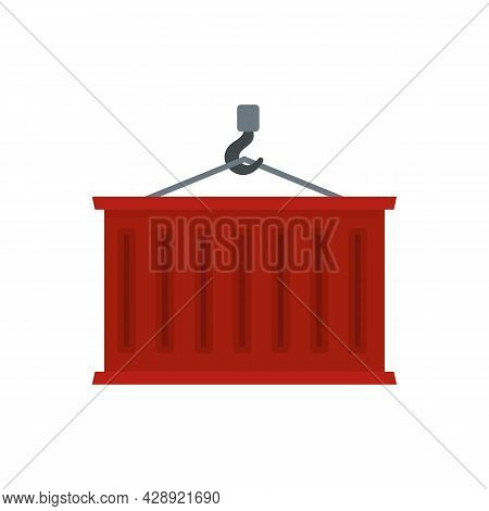 Export Cargo Container Icon. Flat Illustration Of Export Cargo Container Vector Icon Isolated On Whi
