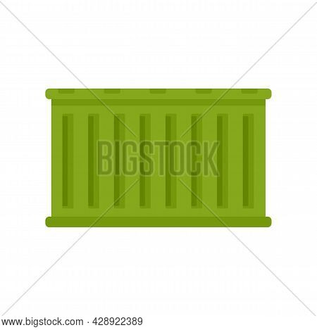 Delivery Cargo Container Icon. Flat Illustration Of Delivery Cargo Container Vector Icon Isolated On