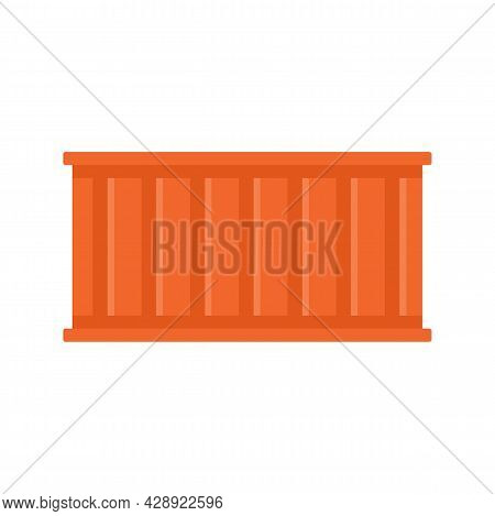 Global Cargo Container Icon. Flat Illustration Of Global Cargo Container Vector Icon Isolated On Whi