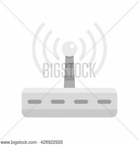 Wifi Router Radiation Icon. Flat Illustration Of Wifi Router Radiation Vector Icon Isolated On White