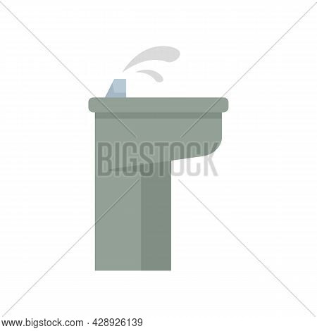 Airport Drinking Faucet Icon. Flat Illustration Of Airport Drinking Faucet Vector Icon Isolated On W