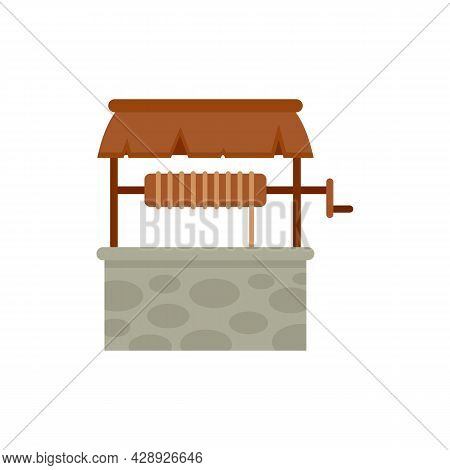 Agriculture Water Well Icon. Flat Illustration Of Agriculture Water Well Vector Icon Isolated On Whi