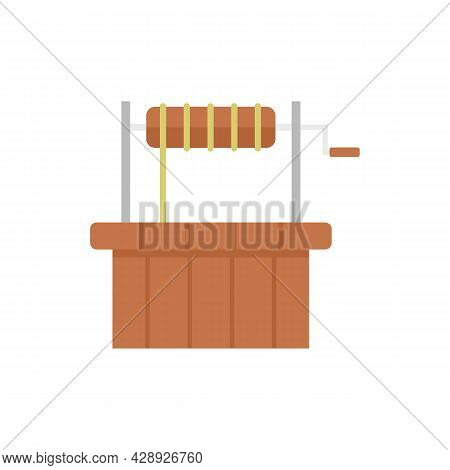 Oasis Water Well Icon. Flat Illustration Of Oasis Water Well Vector Icon Isolated On White Backgroun