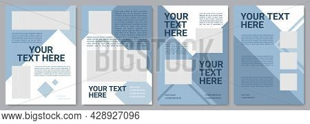 Dark Blue Business Brochure Template. Flyer, Booklet, Leaflet Print, Cover Design With Copy Space. Y