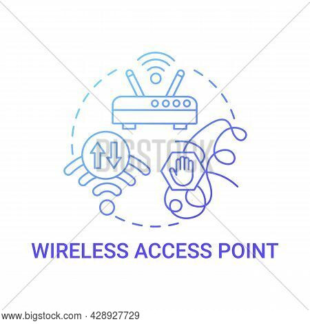Wireless Access Point Gradient Blue Concept Icon. Modem Connection Abstract Idea Thin Line Illustrat