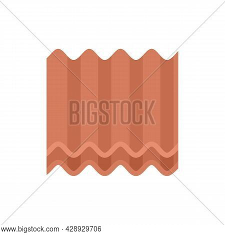 Metal Roof Icon. Flat Illustration Of Metal Roof Vector Icon Isolated On White Background