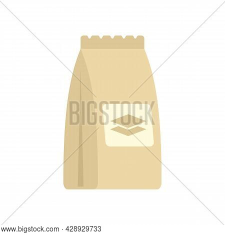 Tiles Glue Sack Icon. Flat Illustration Of Tiles Glue Sack Vector Icon Isolated On White Background