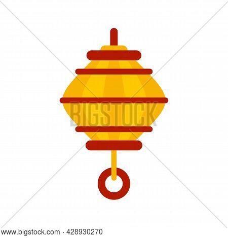 Oriental Lantern Icon. Flat Illustration Of Oriental Lantern Vector Icon Isolated On White Backgroun