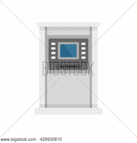 Atm Monitor Screen Icon. Flat Illustration Of Atm Monitor Screen Vector Icon Isolated On White Backg