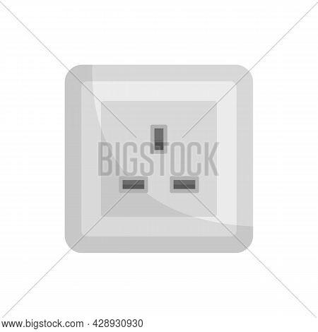 Type G Power Socket Icon. Flat Illustration Of Type G Power Socket Vector Icon Isolated On White Bac