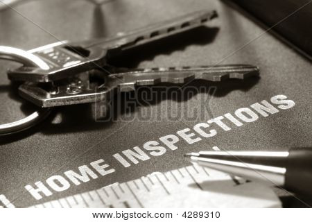 Real Estate Home Inspection Report and Keys