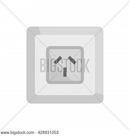 Type I Power Socket Icon. Flat Illustration Of Type I Power Socket Vector Icon Isolated On White Bac
