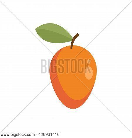 Exotic Eco Mango Icon. Flat Illustration Of Exotic Eco Mango Vector Icon Isolated On White Backgroun