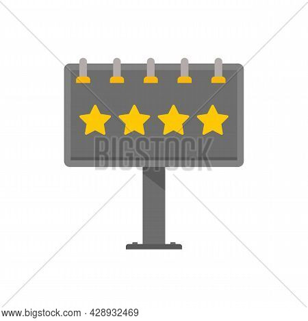 Add Billboard Icon. Flat Illustration Of Add Billboard Vector Icon Isolated On White Background