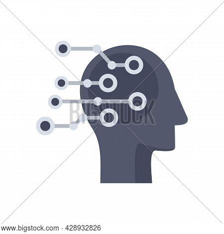 Artificial Intelligent Icon. Flat Illustration Of Artificial Intelligent Vector Icon Isolated On Whi