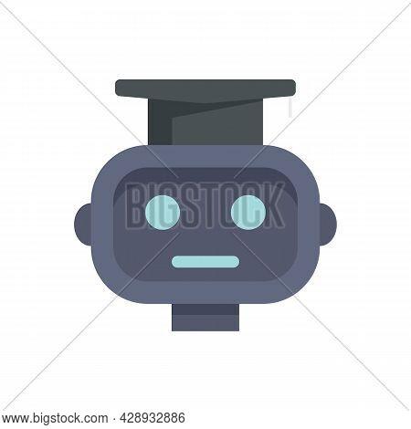 Graduated Ai Robot Icon. Flat Illustration Of Graduated Ai Robot Vector Icon Isolated On White Backg